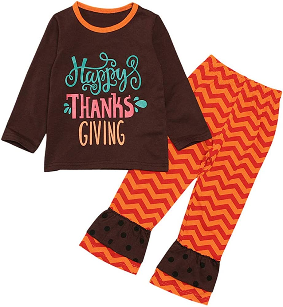 ZOELNIC Newborn Baby Girls Thanksgiving Clothes Top Set Max 46% OFF Letter gift +
