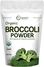 Micro Ingredients Organic Broccoli Extract Powder, 1 Pound (454g), Rich in Fiber, Immune Vitamin C and Flavonoids, Green S...