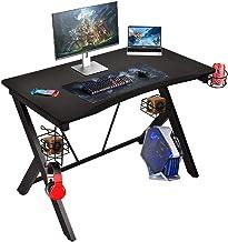 GIODIR Gaming Desk, Home Office PC Computer Desk, Professional E-Sport Gamer Table Workstation...