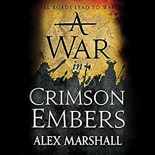 A War in Crimson Embers audiobook cover art