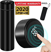 DEAMOS [2020 UPGRADE]Smart Vacuum Insulated Water Bottle Travel Mug with LED Temperature Display   304 Stainless Steel Drink Bottle   Perfect For Sport Out Door Travel and Office , Black , 500ml