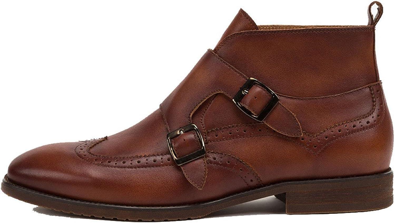 ZPJSZ Männer Herbst Spitze Lässig Lederstiefel Mode England Weinlese Martin Stiefel,Brown-38 B07F7BJLQJ  | Stil
