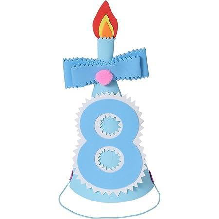 Amazon Com Bestoyard Gorro De Fiesta De Cumpleaños Para Niños Diseño De Princesa Kawaii Con Corona Para Decoración De Fiesta Número 8 Toys Games