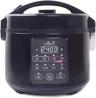 Yum Asia Kumo YumCarb Cocina de arroz con tazón de cerámica y lógica difusa Avanzada, 5 Funciones de cocción de arroz, 3 Funciones de multicocina, (5.5 Tazas, 1 litro) 220-240V Reino Unido/UE