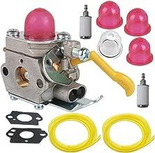 SaferCCTV 530-071752 530-071822 Carburetor&Gasket Primer Bulb Fuel Filter Line for Poulan Craftman Weed Eater Featherlite FL25C FL21 FL20C SST25 FL26 FX26S FX26SC FX265 XT260 SST25C Trimmer