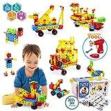 VATOS Konstruktionsspielzeug STEM Spielzeug Bauen 327 Stück Kreatives Baukasten Lernspielzeug Pädagogische Ingenieurblöcke Spielzeug für 3-10 Jährige Jungen & Mädchen Kinder