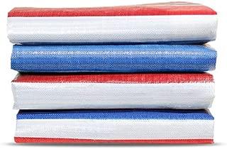 Waterproof Reinforced Tarpaulin Medium Duty 5mils Blue 12X16 Feet Star Plover Durable Multi-Purpose Tarps for Roof Cover