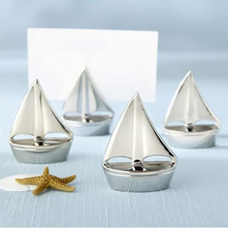 Muhan Sail Boat Table Card Number Holder Stand Tabletop Recipe Menu Holder For Restaurants Weddings Banquets