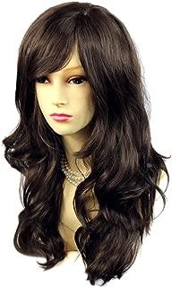 Wiwigs FAVOLOSO JET BLACK lungo ondulato a strati donna Parrucca Pelle Top