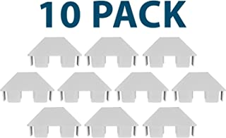 White 7/8 Inch X 3 Inch PVC Vinyl Dog-Ear Picket Caps   10 Pack   AWCP-PIC-.875X3DE-10PK