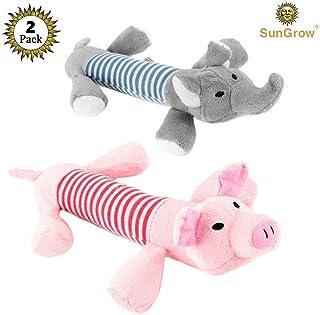 2可爱 Sungrow 毛绒宠物玩具–动态 DUE OF peppy THE 猪和 ELO THE Elephant for YOUR DOG–chewable 耐用软帮助维护健康牙齿和牙龈