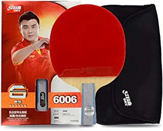 DHS 6-Star Premium Table Tennis Racket Ping Pong Paddle Blade Inverted Rubber with Carry Case