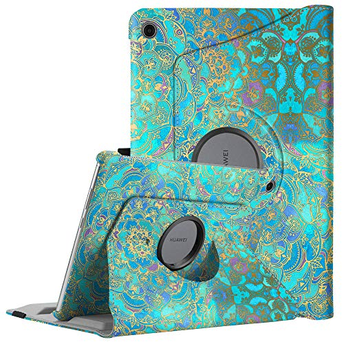 Fintie Huawei MediaPad M5 Lite 10 Hülle - 360 Grad Rotierend Stand Schutzhülle Cover mit Auto Schlaf/Wach Funktion für Huawei MediaPad M5 Lite 10 10.1 Zoll 2018 Modell Tablet PC, Jade