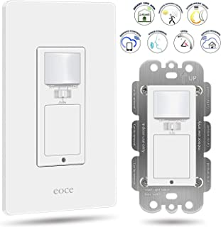Eoce Smart Light Switch, Smart Switch with Motion Sensor, 10A Wifi Motion Light Switch, Compatible with Alexa, Google Home and IFTTT, Remote Control, Timer, Neutral Wire Required, FCC Listed
