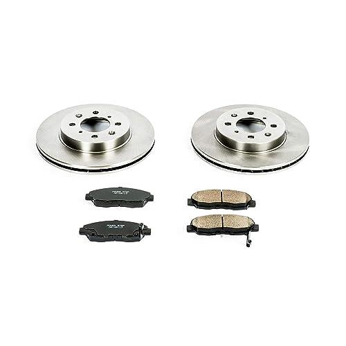 FRONT+REAR BRAKENETIC SPORT Drilled Slotted Brake Disc Rotors BSR84467