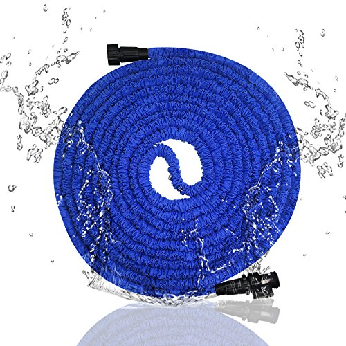 soled Garden Hose, 75ft Expanding Hose, Expandable Garden Hose, Flexible Water Hose,Bungee Expanding Hose,Triple Layer Latex Core Extra Strength Without Spray Nozzle Hose, Wateing Needs
