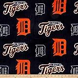 Fabric Traditions MLB Fleece Detroit Tigers, Yard, Orange/Navy