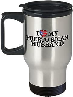 Heart Puerto Rican Husband Travel Mug