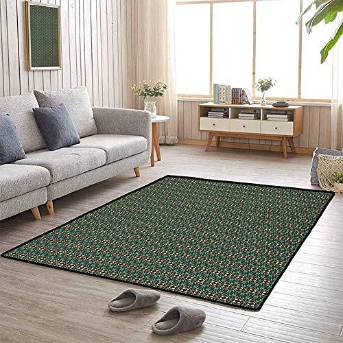 LAURE Camping Mat Composizione Mosaico con Rombi Triangoli e rettangoli Design Astratto Flagship Carpets