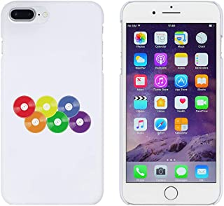 White 'Rainbow Vinyl Records' Case for iPhone 7 Plus (MC00253289)