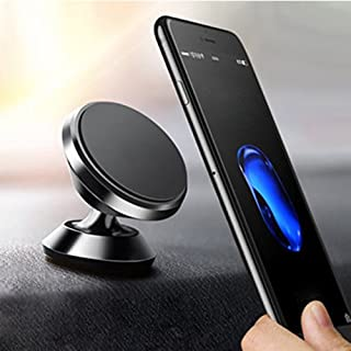 MANORDS Universal Magnetic Car Mount Holder, Stylish 360°Rotation Car Phone Holder, Adjustable Dashboard Mount, Compact Phone Holder for iPhone7/7Plus/6s/Samsung Galaxy S8/S7/S6 and More (Black)