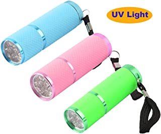 Coolrunner 3pcs Mini LED Flashlight Lamp UV Light Nail Dryer Portable for Nail Gel 15s Fast Dry Nail Polish Curing Lamp