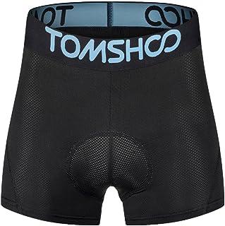 comprar comparacion TOMSHOO Pantalones Ciclismo Cortos Hombre, Ropa Interior Ciclismo Hombre, Calzoncillos Ciclismo Hombre con 3D Gel Acolchad...