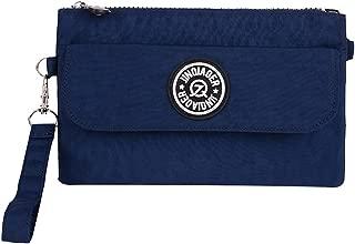 Wiwsi Zip Style Nylon Wallets Women Wristlet Bag Purse Cell Phone Pouch Handbag