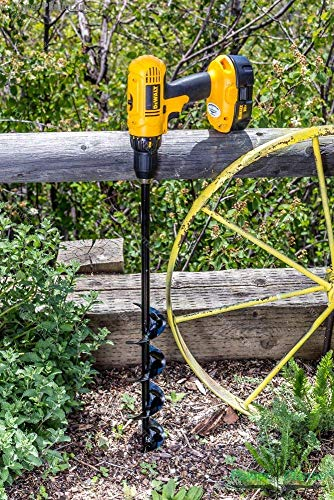 """Power Planter 100% USA Made 3""""x24"""" Extended Length Bulb & Bedding Plant Auger w/ 3/8"""" Hex Drive 5 100% MADE IN THE USA, with USA sourced materials. Made by family farmers for over 30 years for your garden *Patent Pending Design* Non-Slip hex drive"""