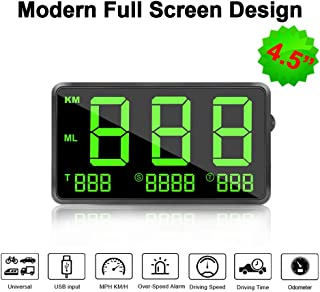 VJOYCAR C80 Hud Head Up Display Digital GPS Speedometer for Cars, 4.5inch Large Screen, with Odometer Overspeed Alarm Fatigue Alert, Universal for All Vehicles Truck Car