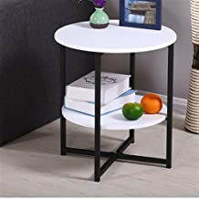 HDZWW Coffee Table Side Tables Furniture Living Room Coffee Table Modern Coffee Tables Sofa Side Mesa (Color : Violet)
