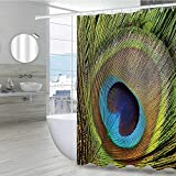 Size- Measures 36 W x 72 L inches with button holes at top allow for easy installation with any ring or hook. Design- Each style represents a brand new lifestyle. The diversified patterns create an exclusive decorative style for your bathroom. Divers...