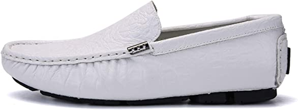 Men's Casual Luxury 2019 Crocodile Leather Italian Loafers Men Moccasins Slip on Boat Plus Size
