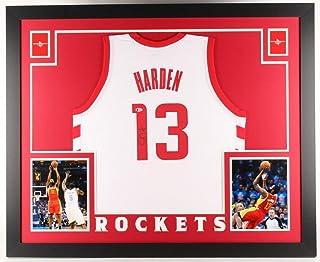 James Harden Autographed Signed Houston Rockets 35 X 43 Custom Framed Jersey (Beckett COA)
