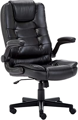 IntimaTe WM Heart オフィスチェア 跳ね上げ式アームレスト 肉厚 デスクチェア 社長椅子 事務椅子 学習椅子 デスクワーク ロッキング機能 無段階昇降 360度回転 レザーチェア ブラック