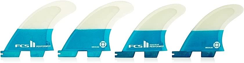 FCS II Performer Performance Core Quad Fin Set - Teal