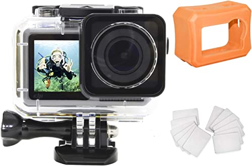 2021 MEKNIC Waterproof Housing Case online sale for DJI OSMO Action popular Camera 200FT Underwater Photography Hard Diving Protective Housing with 1pcs Floaty Shell Case 12pcs Anti Fog Inserts Accessories sale