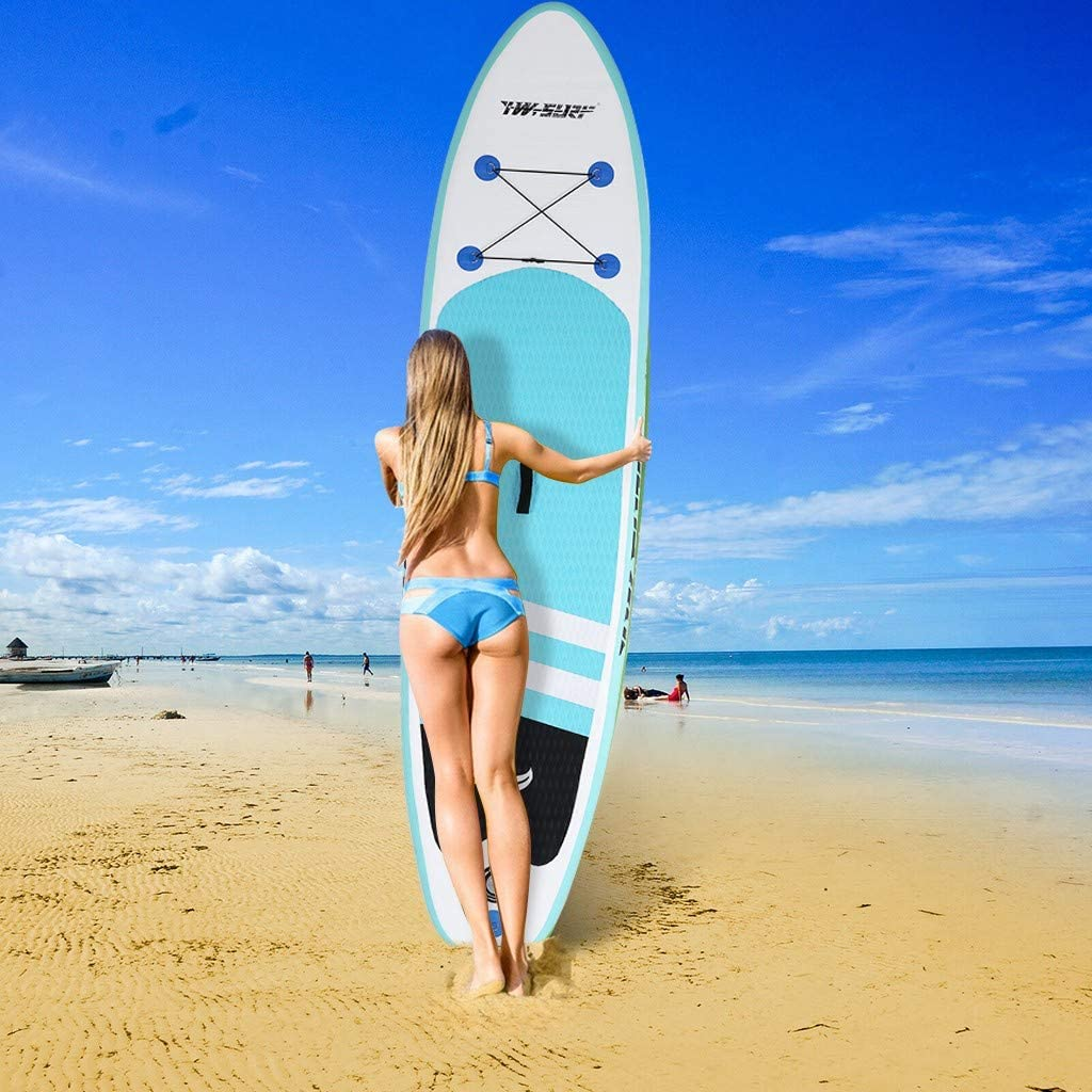 Surfboard Adjustable Fin Paddle,Non-Slip Deck,Youth /& Adult Standing Boat for Paddling Dayyet 10 Inflatable Super Stand Up Paddle Board with Paddling Essentials