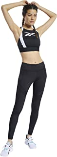 Reebok Women's WOR Mesh Bralette Sports Bra, Black, L