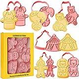 Set di stampini per biscotti con animali del circo...