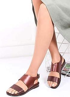 TARÇIN Hakiki Deri Günlük Kadın Sandalet Ayakkabı TRC70-0073