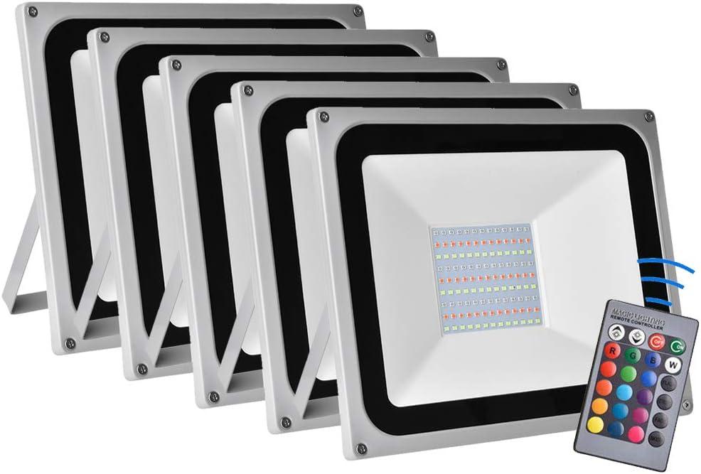 5pcs 100W Led RGB Flood Light 16 Changing Max 45% OFF Spotli Colors Outdoor Trust