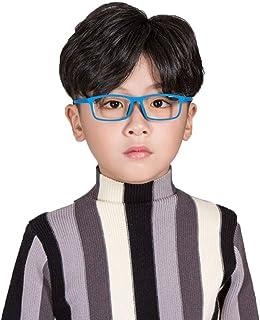 Glasses - Niño y niña Anteojos Anti-Azules, TR90 Elasticidad Silicona Piernas de los vidrios, Gafas de Ordenador móvil para niños, Proteccion de radiacion Protección UV Gafas Protectoras Lente optica