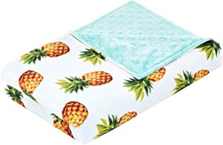 YnM Minky Duvet Cover for Weighted Blankets (48''x72'') - Pineapple Print