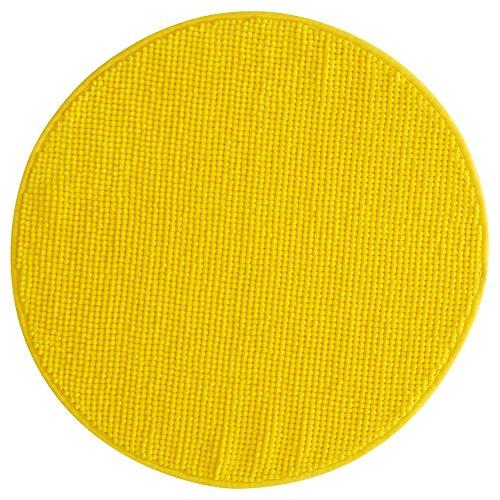 Ikea BADAREN Badematte Mikrofaser rund luxuriös weich 5 Farben (gelb)