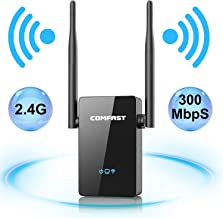 WiFi Range Extender | Up to 300Mbps | WiFi Extender, Repeater, WiFi Signal Booster, Access Point | Easy Set-Up | External Antennas & Compact Designed Internet Booster