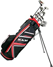 RAM Golf Accubar Plus Golf Right Hand Clubs Set - Graphite Shafted Woods and Stainless Steel Irons