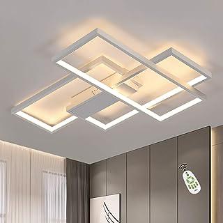Lámpara de techo LED regulable lámpara de sala moderna lámpara de techo blanca 65W lámpara de pared geométrica iluminación de techo multifuncional para sala de estar dormitorio oficina salón y balcón