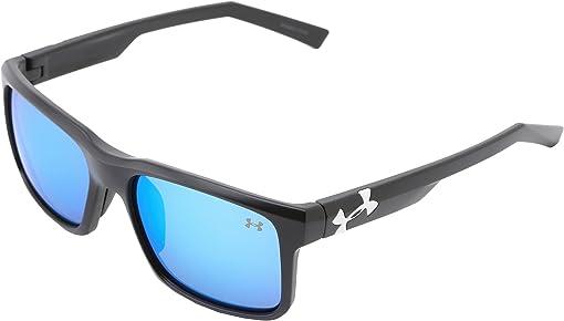 Satin Black Frame w/ Black Rubber/Gray w/ Blue Multiflection Len