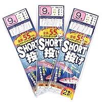 TAKAMIYA(タカミヤ) SmileShip ショート投げ 3枚セット 針9号-ハリス2号 TF16